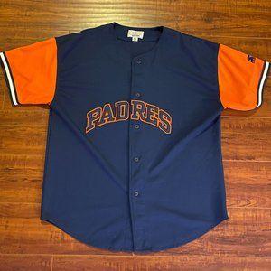 Vintage San Diego Padres Button Up STARTER Jersey